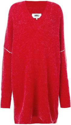 MM6 MAISON MARGIELA oversized v-neck jumper