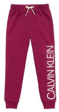 Calvin Klein Girl's Logo Drawstring Sweatpants