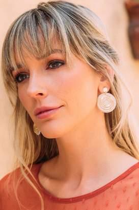 francesca's Finleigh Circle Drop Earrings - Ivory