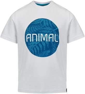 Animal Boys White Circle Graphic Tee