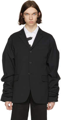 Kenzo Black Wide Sleeve Blazer