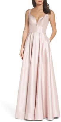 La Femme Mikado A-Line Gown