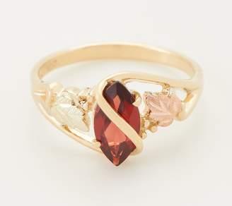 Black Hills Gold Grape Vine & Garnet Ring, 10K/12K Gold