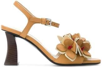 Marni floral applique sandals