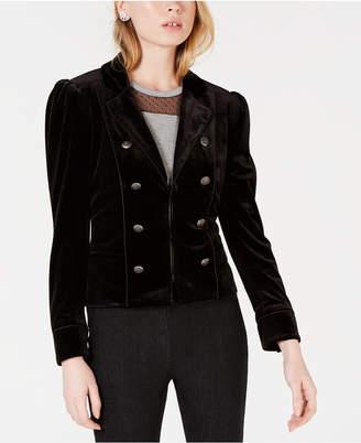 Maison Jules Velvet Button-Trim Jacket