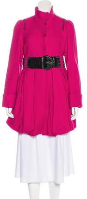 Alice + Olivia Stand Collar Short Coat