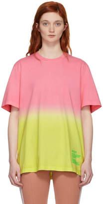 MSGM Pink Tie-Dye Logo T-Shirt