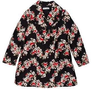 Dolce & Gabbana Girls' Floral Print Textured Jacket