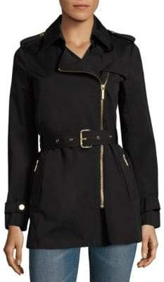 MICHAEL Michael Kors Assymetrical Zip Trench Coat