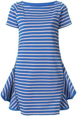 Sacai ruffle vent T-shirt dress