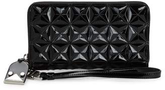 Emporio Armani Quilted Faux Leather Wristlet
