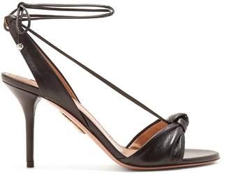 Aquazzura Virginie 85 knot-front leather sandals