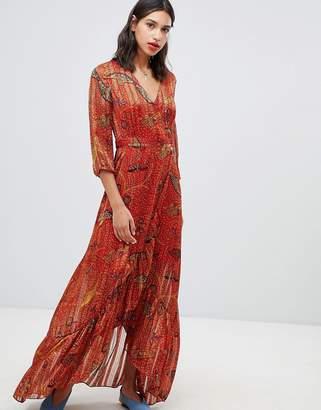 BA&SH Disy Maxi Wrap Dress