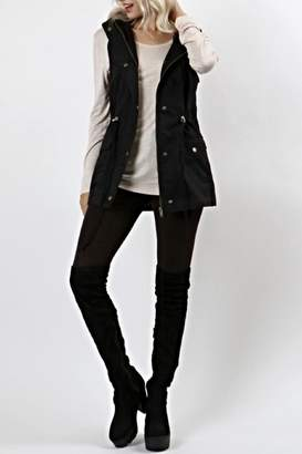 Zenana Hooded Military Vest $36 thestylecure.com