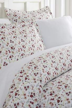 IENJOY HOME Home Spun Premium Ultra Soft 3-Piece Blossoms Print Duvet Cover Queen Set - Pink