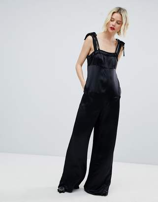 Max & Co. MAX&Co Palma Bow Detail Jumpsuit