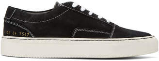 Common Projects Woman By Woman by Black Suede Skate Low Sneakers