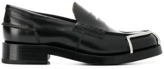 Alexander Wang metallic detailed loafers