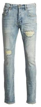 Purple Brand P001 Slim Fit Distressed Jeans