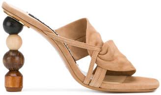 ornamental high heel sandals