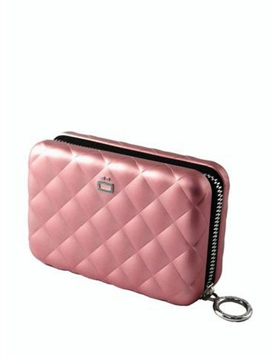 The Style Cube LLC Ogon Aluminum Quilted Credit Card Size Clutch