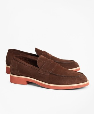 Brooks Brothers Suede Penny Loafer