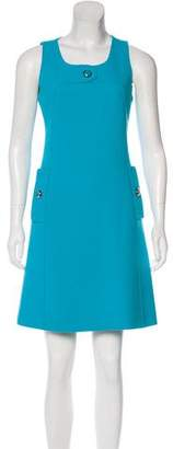 Michael Kors Virgin Wool Sleeveless Dress