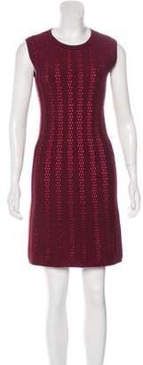 Alaia Two-Tone Knit Sheath Dress