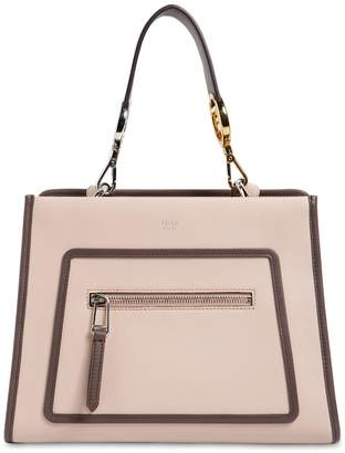 Fendi Small Runaway Leather Tote Bag