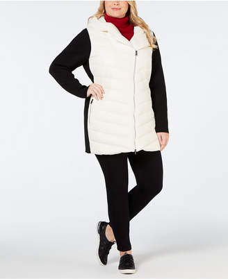 Calvin Klein Plus Size Colorblocked Hooded Walker Jacket