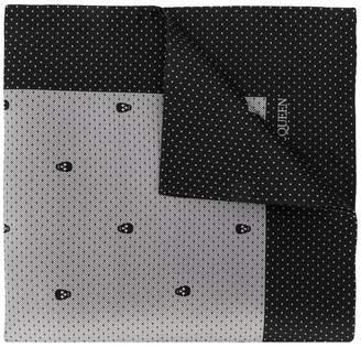 Alexander McQueen skull print handkerchief