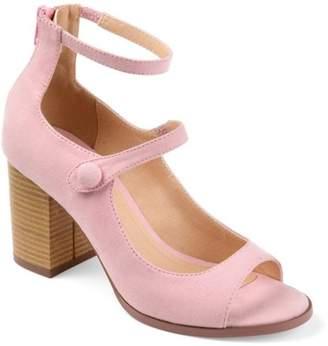 Co Brinley Womens Faux Suede Ankle-strap Open-toe Heels