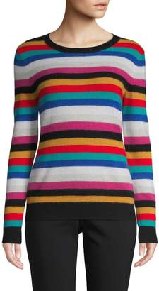 Lord & Taylor Multicolour Striped Cashmere Sweater