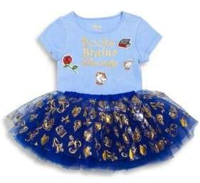 TUTU COUTURE Toddler's, Little Girl's& Girl's Text Graphic Tee and Printed Tutu
