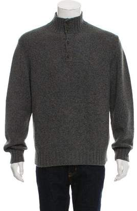 Loro Piana Baby Cashmere Henley Sweater w/ Tags