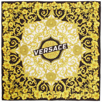 Versace Multicolor Silk Baroque Scarf