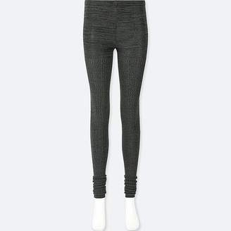 Uniqlo Women's Heattech Knitted Ribbed M+ëlange Leggings