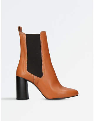 Kurt Geiger London Tan Classic Damsel Leather Heeled Boots