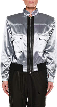 Tom Ford Iridescent Sateen Bomber Jacket