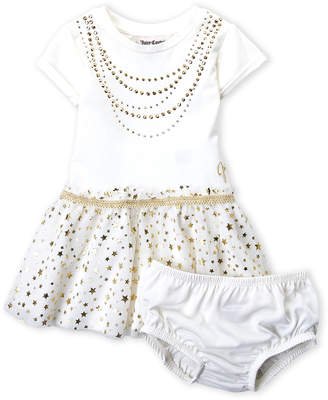 Juicy Couture Infant Girls) Two-Piece Studded Tutu Dress & Bloomers Set