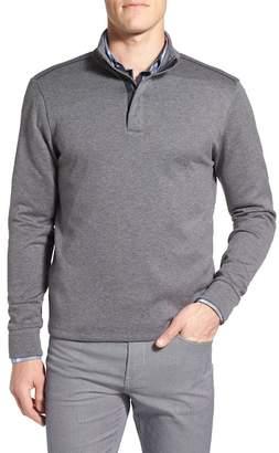 BOSS HUGO BOSS Sidney Quarter Zip Pullover $145 thestylecure.com