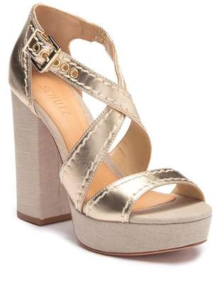 Schutz Cadore Metallic Wedge Sandal