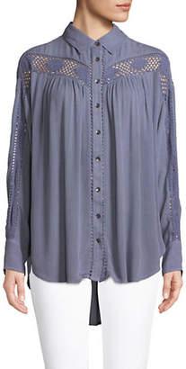Free People Katie Bird Button-Down Shirt