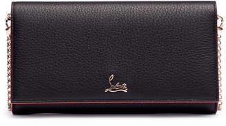 Christian Louboutin Boudoir black leather chain wallet