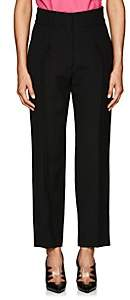Calvin Klein Women's Wool-Silk Crepe Crop Trousers - Black