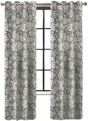Asstd National Brand Colordrift Penelope Faux Silk Grommet-Top Curtain Panel