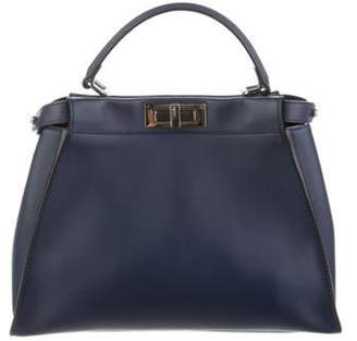 Fendi Medium Peekaboo Tote Navy Medium Peekaboo Tote