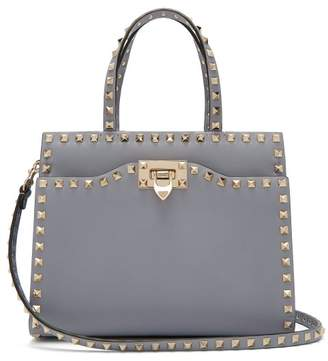Valentino - Rockstud Small Leather Bag - Womens - Light Blue