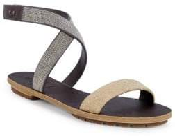 Brunello Cucinelli Textured Leather Sandals