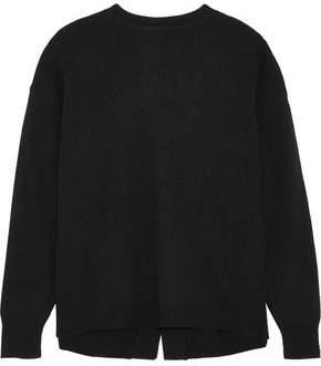 Ellery Grace Open-Back Stretch-Knit Sweater
